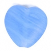 Glass Pressed Beads 10x10mm Heart Blue Matt